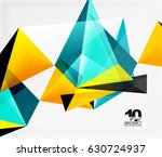 3d triangles geometric vector... | Shutterstock .eps vector #630724937