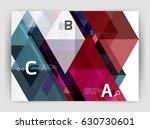 modern business brochure or... | Shutterstock .eps vector #630730601