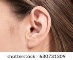 female human ear and hair close ... | Shutterstock . vector #630731309