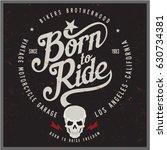 vintage biker graphics and... | Shutterstock .eps vector #630734381