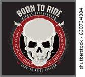 vintage biker graphics and... | Shutterstock .eps vector #630734384