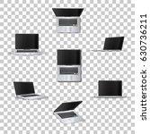 laptop  on transparent... | Shutterstock .eps vector #630736211