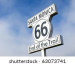 end of the trail sign in santa... | Shutterstock . vector #63073741