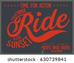 vintage surfing graphics and... | Shutterstock .eps vector #630739841