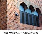 lamp window and wall brick | Shutterstock . vector #630739985