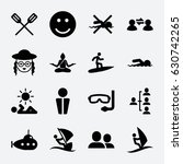 people icon. set of 16 people... | Shutterstock .eps vector #630742265