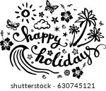 happy holidays  summer card ... | Shutterstock .eps vector #630745121