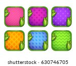 bright cartoon app icons with... | Shutterstock .eps vector #630746705