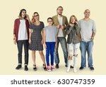 group of diversity people... | Shutterstock . vector #630747359