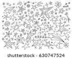 stars hand drawn doodle star... | Shutterstock .eps vector #630747524