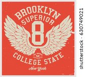 vintage varsity graphics and... | Shutterstock .eps vector #630749021
