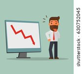 business man and fall chart line | Shutterstock .eps vector #630752045
