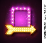 neon sign with arrow and... | Shutterstock .eps vector #630756449