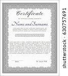 grey certificate. excellent...   Shutterstock .eps vector #630757691