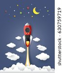 the rocket in the air  paper... | Shutterstock .eps vector #630759719