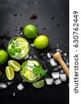 refreshing mint cocktail mojito ... | Shutterstock . vector #630762449