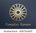 islamic arabic background. gold ... | Shutterstock .eps vector #630762605