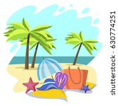 summer time illustration.vector ... | Shutterstock .eps vector #630774251