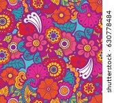 paisley mehndi seamless... | Shutterstock .eps vector #630778484