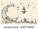ramadan celebration vintage... | Shutterstock .eps vector #630778865