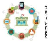mobile banking concept. finance ... | Shutterstock .eps vector #630781931