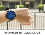 business man look smartwatch... | Shutterstock . vector #630783725