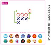 football strategy | Shutterstock .eps vector #630785711