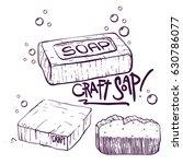 craft soap illustrations set.... | Shutterstock .eps vector #630786077