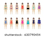 collection of female swimsuit.... | Shutterstock .eps vector #630790454