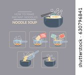 cooking instruction icon set ... | Shutterstock .eps vector #630796841