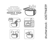 cooking instruction icon set ... | Shutterstock .eps vector #630796859