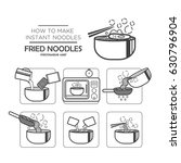 cooking instruction icon set ... | Shutterstock .eps vector #630796904
