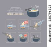 cooking instruction icon set ... | Shutterstock .eps vector #630796925