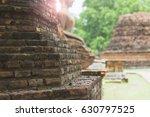 background of ancient brick... | Shutterstock . vector #630797525