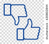 like and dislike icon. thumbs... | Shutterstock .eps vector #630802844