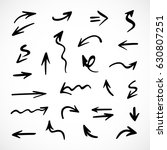 hand drawn arrows  vector set | Shutterstock .eps vector #630807251