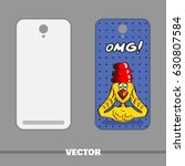 phone cover with hand drawn... | Shutterstock .eps vector #630807584
