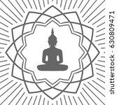 buddha in lotus flower icon | Shutterstock . vector #630809471
