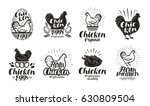 chicken  poultry farm label set.... | Shutterstock .eps vector #630809504