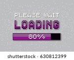 pixel loading bar. vector... | Shutterstock .eps vector #630812399