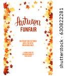 autumn leaves design elements.... | Shutterstock .eps vector #630822281