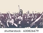 illustration of festival crowd... | Shutterstock .eps vector #630826679