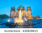 Stock photo night at berlin cathedral in berlin germany 630828815