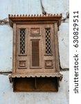 Old Designed Wooden Windows In...