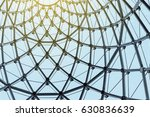 structural glass facade curving ... | Shutterstock . vector #630836639