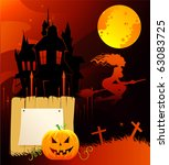 halloween back | Shutterstock .eps vector #63083725