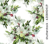 seamless watercolor... | Shutterstock . vector #630840419