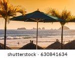 ixtapa  mexico beach scene with ... | Shutterstock . vector #630841634