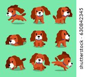 set of vector cartoon character ... | Shutterstock .eps vector #630842345