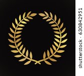 gold award laurel wreath on... | Shutterstock .eps vector #630842951
